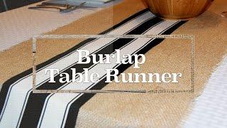 Simple As That:  Burlap Table Runner
