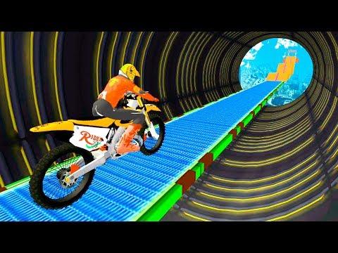 Super Biker Sky Track Rider Game - Dirt Motor Bike Racing Games for Children