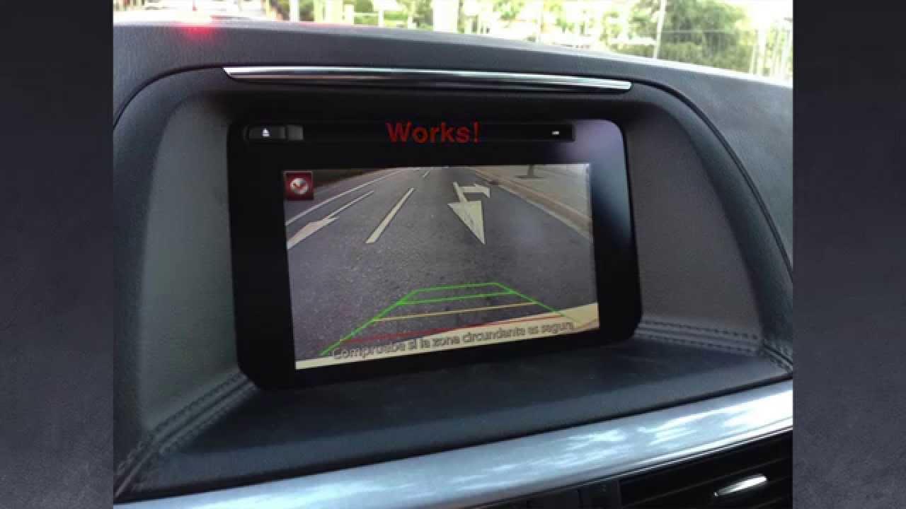 Mazda CX 5 2015 2016 install rear camera  backup camera  reverse camera  YouTube