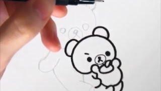 [slowly version]  How to draw Rilakkuma and  Korilakkuma  [Japanese character]  illustration