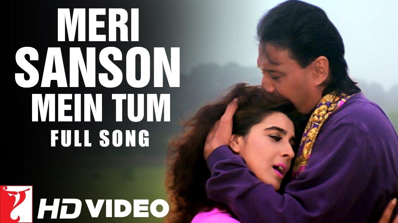 Download Meri Sanson Mein Tum | Full Song | Aaina | Jackie Shroff, Amrita Singh | Kumar Sanu, Asha Bhosle