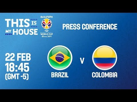 LIVE🔴 - Brazil v Colombia - Press Conference - FIBA Basketball World Cup 2019 - Americas Qualifiers