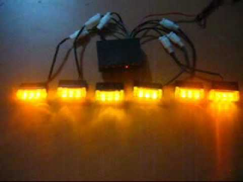 6 Output Amber Led Strobe Light for Car - YouTube