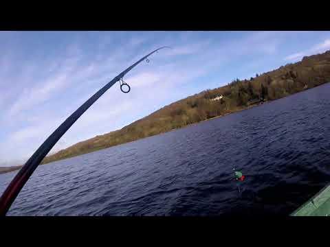 Pike Fishing On Esthwaite Water, Hawkshead, The Lake District.