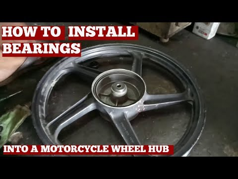 How To Change Motorcycle Wheel Bearings-Change Bearings On Bike Wheel Hub-Video YouTube 2019