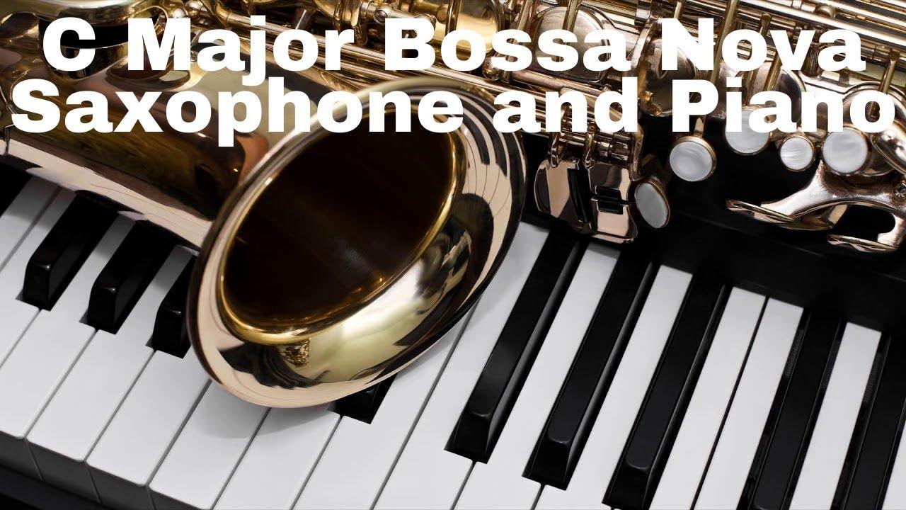 Sax and Piano Jazz Duo - Bossa Nova Backing Track in C