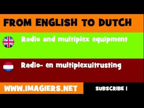 NEDERLANDS = ENGELS = Radio  en multiplexuitrusting