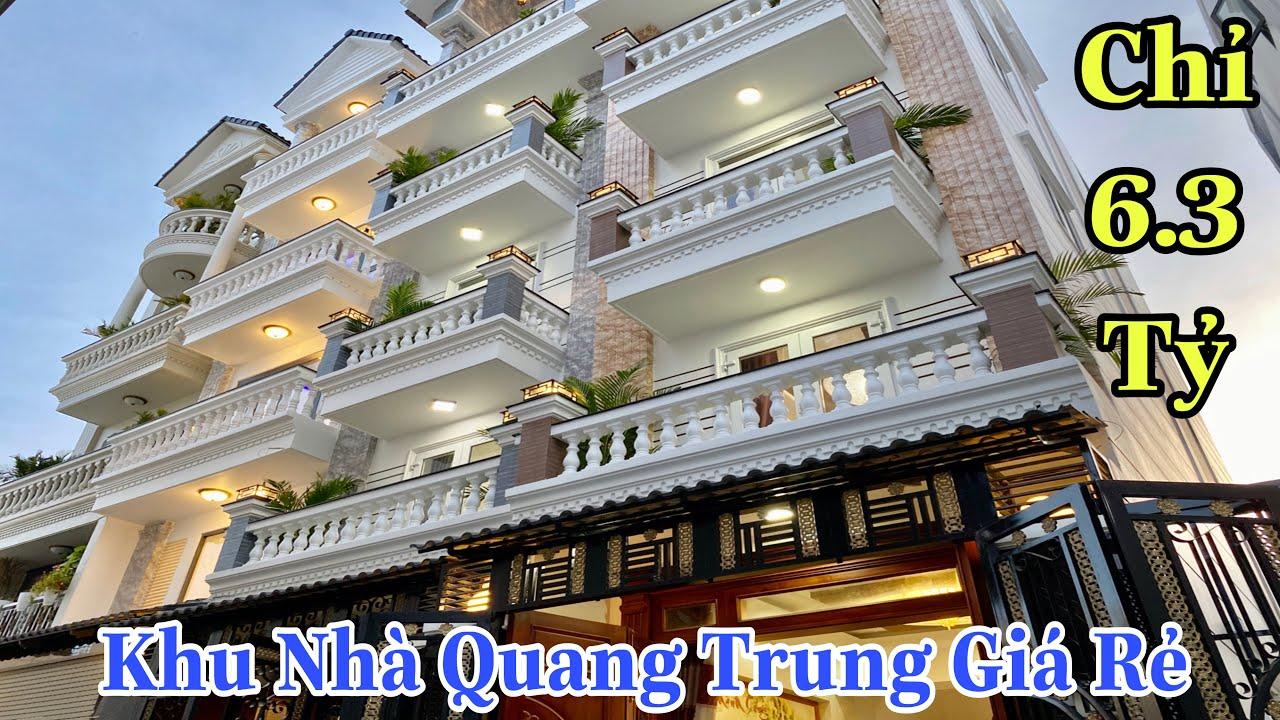 Bán nhà Gò Vấp 2020| Mở bán khu nhà đẹp đường Quang Trung P11 với giá rẻ chưa từng thấy ! Chỉ 6,3 tỷ