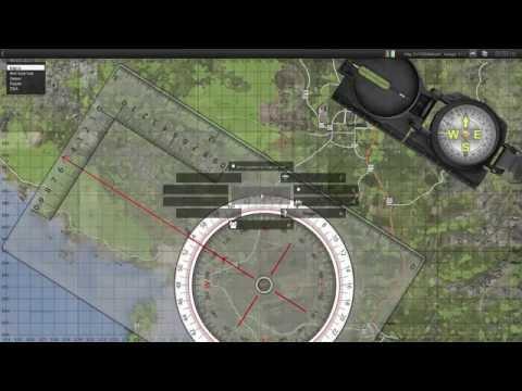 Учебное видео. Ориентирование на местности часть 2 (дальномер,компас,линейка)