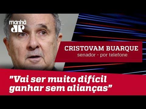 """""""Vai ser muito difícil ganhar sem alianças espúrias"""", admite senador Cristovam Buarque"""