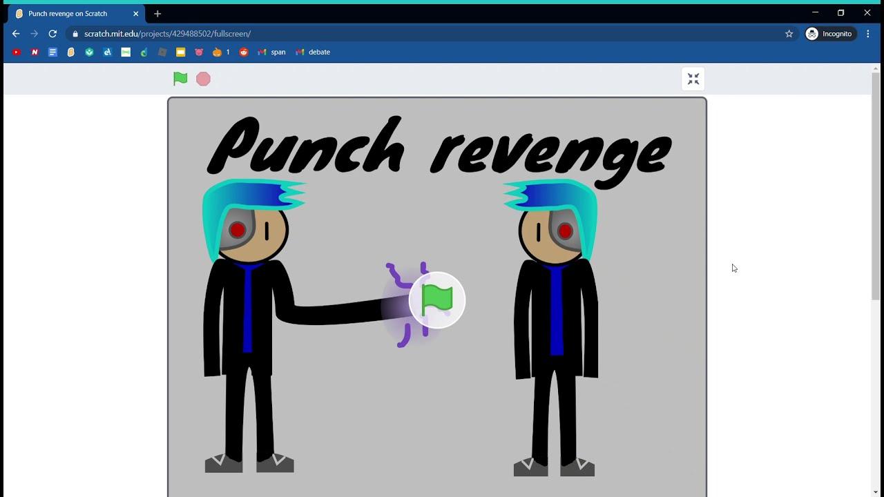 Punch revenge A scratch animation - YouTube
