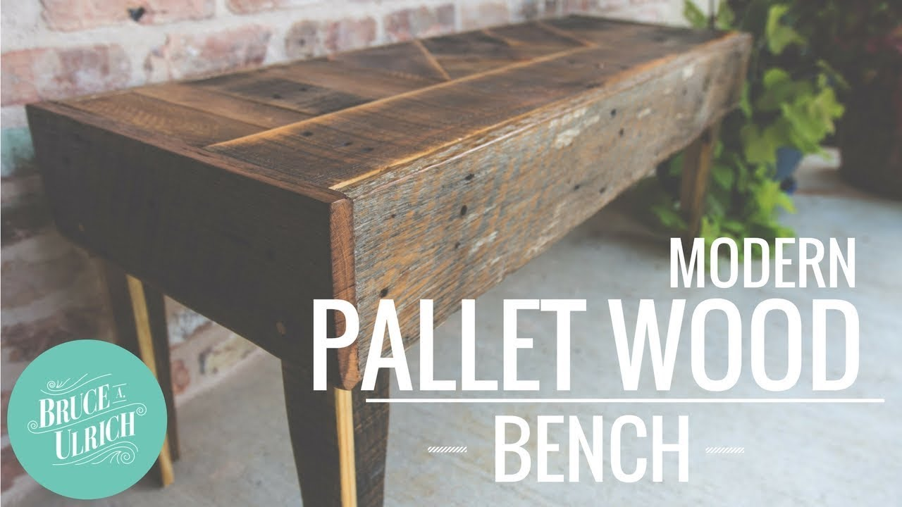 How to Make a Modern Pallet Wood Bench Youtube