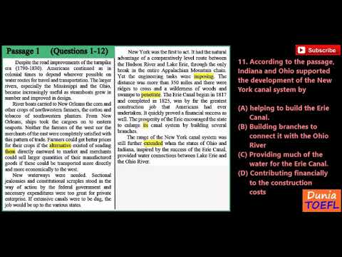 TOEFL Reading Full Practice Test 30 with Answer Key - YouTube