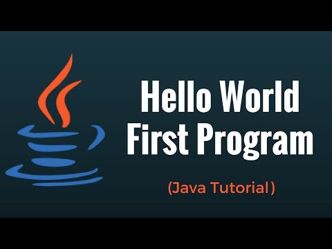 First  Program | Hello World  | Java Tutorial