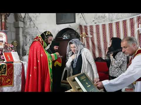 Syriac Orthodox Liturgy at the Tomb of Joseph of Arimathea, Church of the Holy Sepulchre, Jerusalem