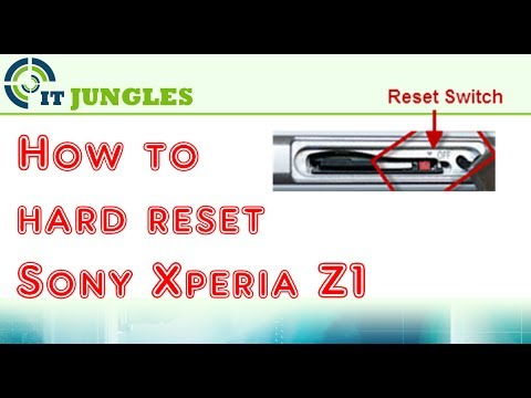 How to Hard Reset Xperia Z1 With Hardware Switch