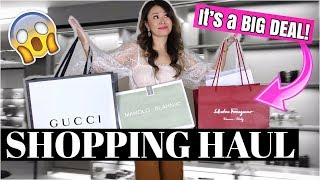 HUGE LUXURY SHOPPING HAUL - 4 UNBOXINGS! ft GUCCI, MANOLOS | IT'S A BIG DEAL!