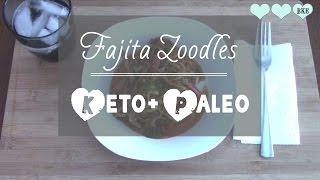 Fajita Zoodles (zucchini Noodles) | Lchf Recipes