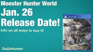 Monster Hunter World: Release Date and Editions thumbnail