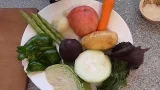 Борщ вегетарианский красный. Перетертый борщ для детей.