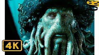 Сделка Дейви Джонса и Джека Воробья | Пираты Карибского моря: Сундук мертвеца (2006) 4K ULTRA HD