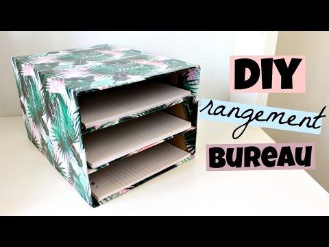 DIY rangement bureau pour vos feuilles