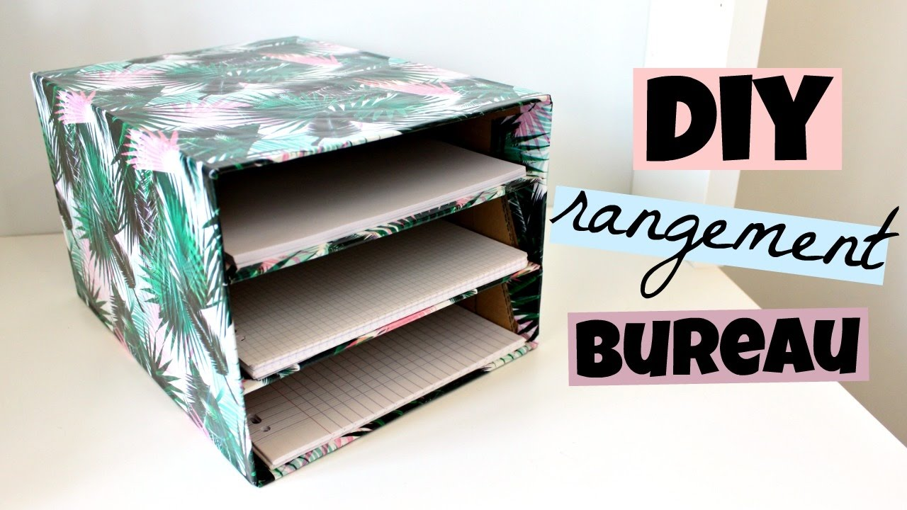 diy rangement bureau pour vos feuilles youtube. Black Bedroom Furniture Sets. Home Design Ideas