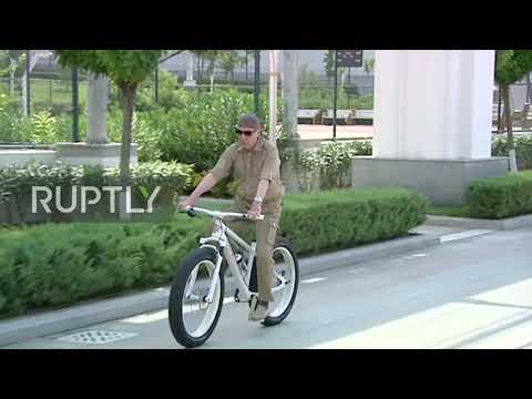 Turkmenistan: State TV footage shows Turkmen president's vacation activities