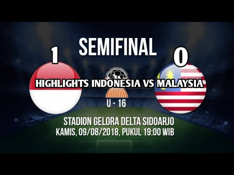 Highlights INDONESIA vs MALAYSIA (1-0) AFF Championship U16 Semifinal 2018