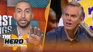 Nick Wright on Klay's comments about LeBron, Colin's support of OBJ | THE HERD