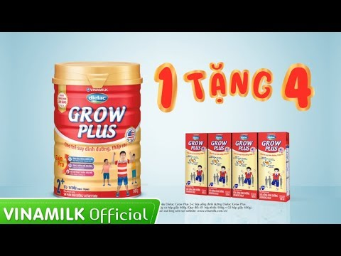 Quảng cáo Vinamilk – Dielac Grow Plus – Mua 1 tặng 4 Sữa bột pha sẵn (35s)