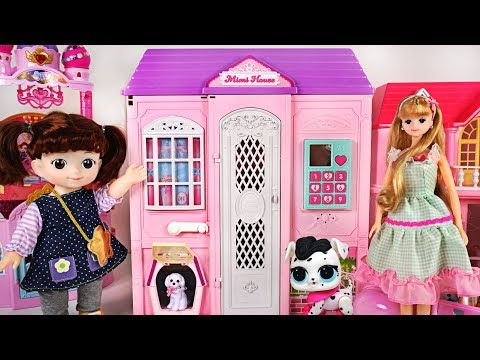 Looking around the Mimi's Two-stories house with Baby Shark, LOL doll - PinkyPopTOY