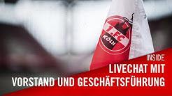 Livechat mit Vorstand und Geschäftsführung des 1. FC Köln