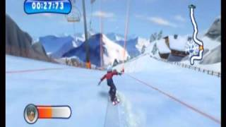 Mountain Sports (Wii) Gameplay: Snowboarding