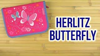 Розпакування Herlitz Butterfly 19 предметів 1 відділення Рожевий 50008469B