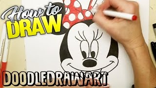 How to Draw Minnie Mouse step by step!  Easy!