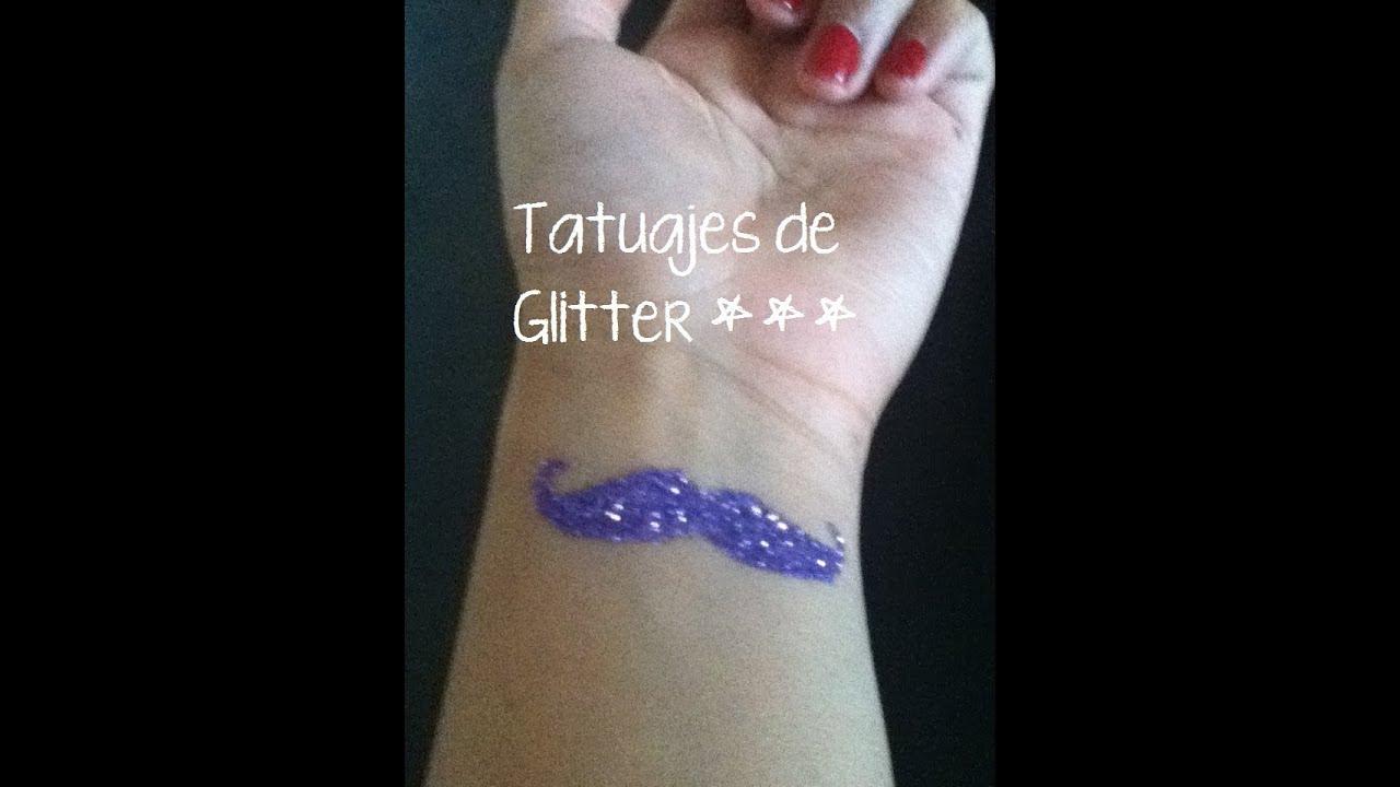 Tatuajes de Glitter - YouTube