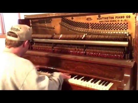 Playing Grandma's 1913 Huntington Upright Piano