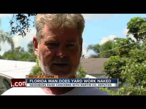 Opinion. You women doing yardwork naked final