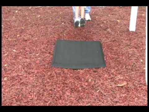 Rubber Playground Mulch And Swing Mat Comparisons Youtube