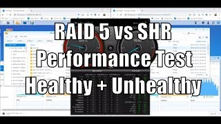 RAID 5 vs SHR Test - Performance Comparison