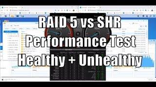 RAID 5 vs SHR Test - Performance Comparison
