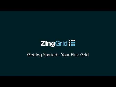 Building Your First Grid with ZingGrid