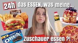24h das ESSEN was meine ZUSCHAUER essen 🍔😶🍩// Looskanal