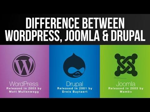 Difference between Wordpress, Joomla and Drupal