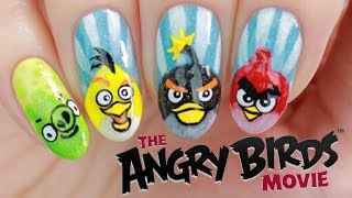 Angry Birds Movie Nail Art Tutorial