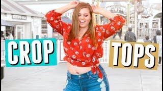 How to Style CROP TOPS on a Curvy Body in Summer || Sierra Schultzzie