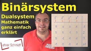 Binärsystem  - Dualsystem  - ganz einfach erklärt (+ typische Aufgaben in der Mathearbeit)
