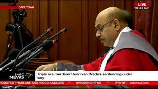 3 life sentences handed down to Henri van Breda