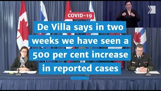 Dr. Eileen de Villa says in two weeks we have seen 500 per cent increase in cases | COVID-19